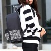 cheap Stylish Canvas and Color Block Design Backpack For Women