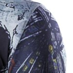 Abstract Print Short Sleeves Round Neck T-Shirt For Men deal