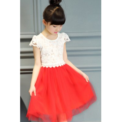 Cute Cap Sleeve Lace Spliced A-Line Dress For GirlGirls Clothing<br>Cute Cap Sleeve Lace Spliced A-Line Dress For Girl<br><br>Style: Cute<br>Material: Cotton Blend,Polyester<br>Silhouette: A-Line<br>Dresses Length: Knee-Length<br>Neckline: Scoop Neck<br>Sleeve Length: Short Sleeves<br>Pattern Type: Patchwork<br>With Belt: No<br>Season: Summer<br>Weight: 0.300kg<br>Package Contents: 1 x Dress
