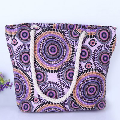 Casual Multicolor and Circle Pattern Design Shoulder Bag For Women