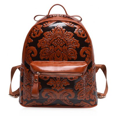 PU Leather Design Backpack For Women