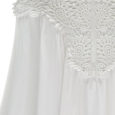Womens Stylish V-Neck Sleeveless Lace Splicing BlouseBlouses<br>Womens Stylish V-Neck Sleeveless Lace Splicing Blouse<br><br>Clothing Length: Regular<br>Collar: V-Neck<br>Material: Polyester<br>Package Contents: 1 x Blouse<br>Pattern Type: Patchwork<br>Season: Summer<br>Sleeve Length: Sleeveless<br>Style: Casual<br>Weight: 0.235kg