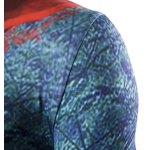 3D Tree Print Short Sleeves Round Neck Ombre T-Shirt For Men deal