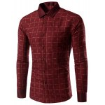 Long Sleeves Plaid Single Breasted Shirt For Men