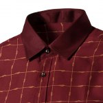 Long Sleeves Plaid Single Breasted Shirt For Men deal