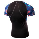 Quick-Dry Sea World Print Round Neck Short Sleeves Skinny T-Shirt For Men deal