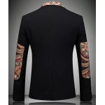 cheap Turn-Down Collar Elbow Patch Splicing Long Sleeve Men's Blazer