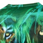 3D Jungle and Leopard Printed Round Neck Short Sleeve T-Shirt For Men deal