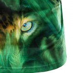 best 3D Jungle and Leopard Printed Round Neck Short Sleeve T-Shirt For Men