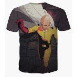 cheap 3D Hero Monk Print Short Sleeves Round Neck T-Shirt For Men