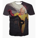 3D Hero Monk Print Short Sleeves Round Neck T-Shirt For Men