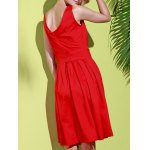 Vintage Scoop Collar Sleeveless Solid Color Women's Midi Dress for sale