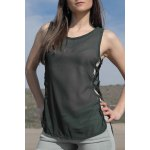 Stylish Scoop Neck Sleeveless Cut Out Chiffon Women's Tank Top