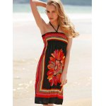 Bohemian Halter Sleeveless Women's Floral Dress deal