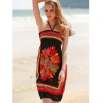 Bohemian Halter Sleeveless Women's Floral Dress for sale