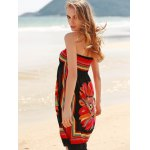 best Bohemian Halter Sleeveless Women's Floral Dress