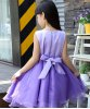cheap Sweet Scoop Neck Sleevelss Bowknot Embellished Girl's Dress