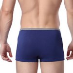 cheap Elastic Waist Solid Color Comfortable Boxer Brief For Men