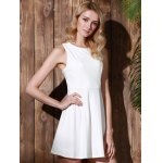 Stylish Round Collar Sleeveless A-Line Dress For Women photo