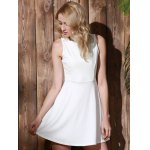 best Stylish Round Collar Sleeveless A-Line Dress For Women