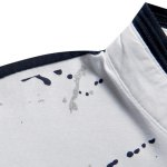 Hot Sale Stand Collar Ink Painting Design Short Sleeve Men's Polo T-Shirt deal