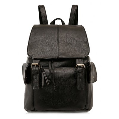 Double Buckle Design Backpack For Women