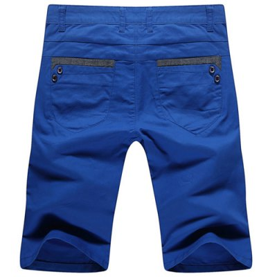 Casual Summer Zip Fly Straight Legs Shorts For Men
