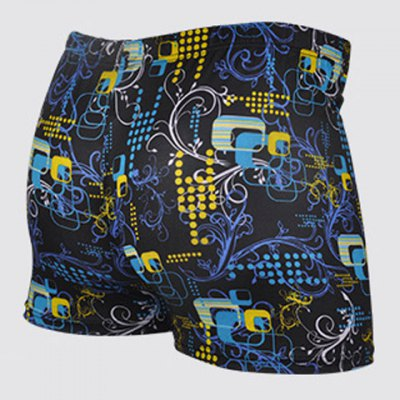 Quick-drying Waterproof Printed Men's Boxers Swimming Trunks
