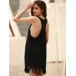 Stylish U-Neck Sleeveless Solid Color Fringed Cover-Up For Women deal