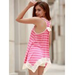 Chic Scoop Neck Sleeveless Striped Bowknot Design Women's Tank Top deal