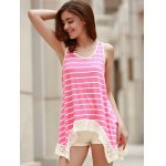 Chic Scoop Neck Sleeveless Striped Bowknot Design Women's Tank Top for sale