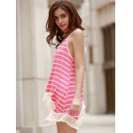 Chic Scoop Neck Sleeveless Striped Bowknot Design Women's Tank Top photo
