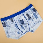 cheap Elastic Waist Letters Printed Comfortable Boxer Brief For Men