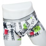 Elastic Waist Telegraph Pole Print Comfortable Boxer Brief For Men