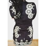 best Stylish Plunging Neck 3/4 Sleeve Printed Bodycon Dress For Women