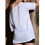 best Casual 1/2 Sleeve Loose-Fitting Solid Color T-Shirt For Women