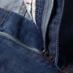 Casual Straight Legs Zip Fly Loose Denim Shorts deal