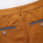 Casual Zip Fly Solid Color Shorts For Men photo