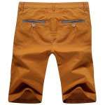 cheap Casual Zip Fly Solid Color Shorts For Men