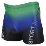Buy Elastic Waist Letter Printing Men's Boxers Swimming Trunks COLORMIX
