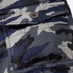 Military Style Straight Leg Multi-Pocket Loose Fit Zipper Fly Camo Cargo Pants For Men(Thicken) photo