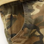 Camouflage Straight Leg Multi-Pocket Loose Fit Cargo Pants For Men photo
