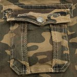 Camo Print Multi-Pocket Loose Fit Straight Leg Zipper Fly Cargo Shorts For Men photo