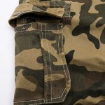 best Camo Print Multi-Pocket Loose Fit Straight Leg Zipper Fly Cargo Shorts For Men