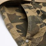 Camo Print Multi-Pocket Loose Fit Straight Leg Zipper Fly Cargo Shorts For Men deal