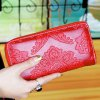 cheap Chinese Style Solid Colour and Embossing Design Wallet For Women