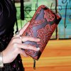 cheap Vintage Embossing and PU Leather Design Wallet For Women
