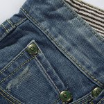 Casual Summer Ripped Straight Legs Zip Fly Denim Shorts For Men deal