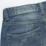 Casual Summer Ripped Straight Legs Zip Fly Denim Shorts For Men for sale