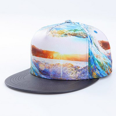 3D Sea and Sunlight Pattern Baseball Cap